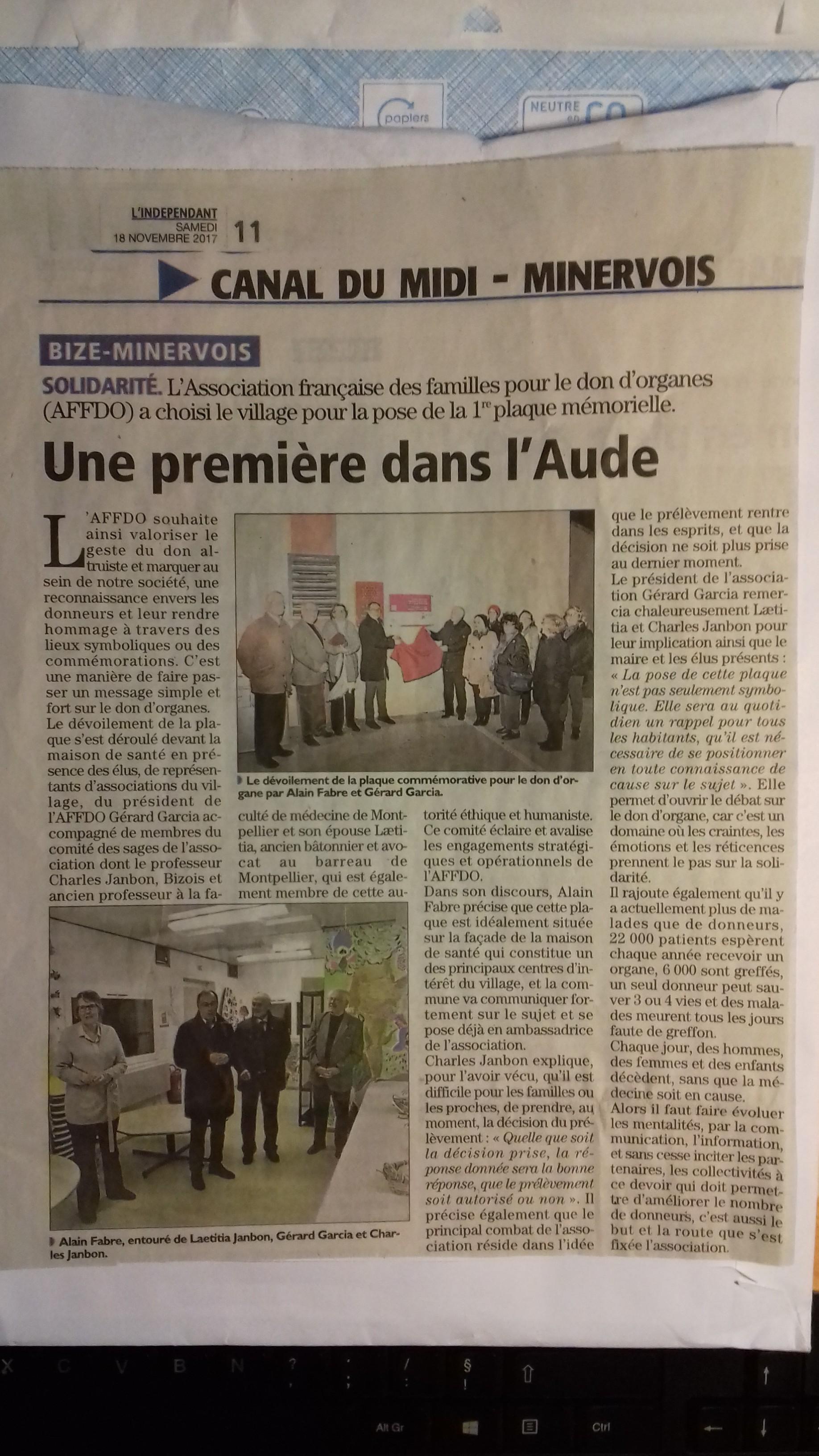 photo article l'Indépendant